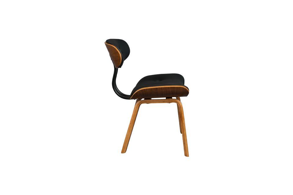 Silla negra Wood marrón y negra - 11