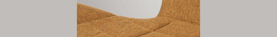 Descriptivo Materiales  Silla OMG en color de camel
