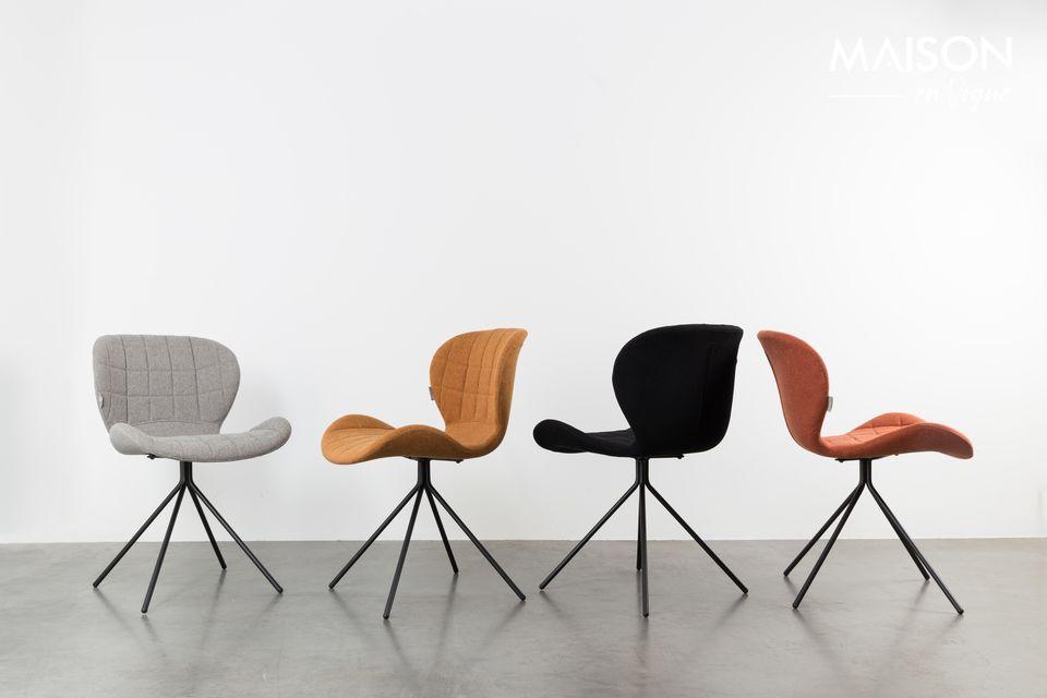 La silla OMG ofrece un gran confort gracias a su tapizado acolchado y su forma ergonómica