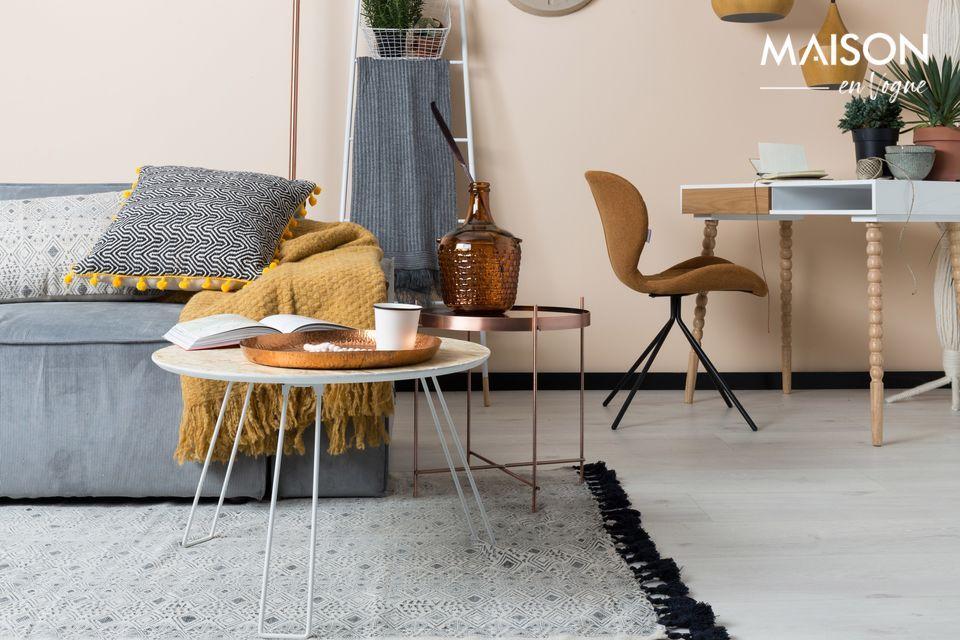 Este asiento tapizado es tan cómodo que no puede evitar pronunciar el famoso \