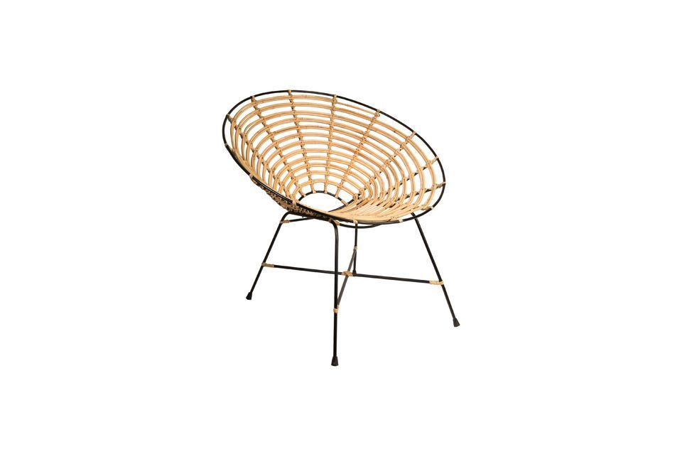 Silla redonda de ratán Kubu - 10