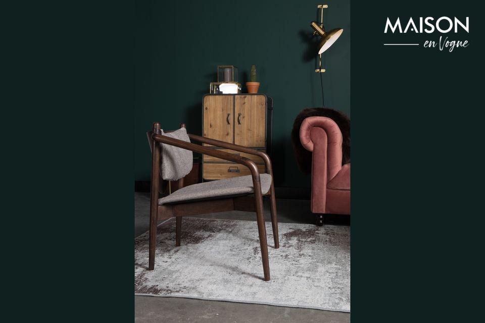 Una moderna y elegante silla de estilo 60