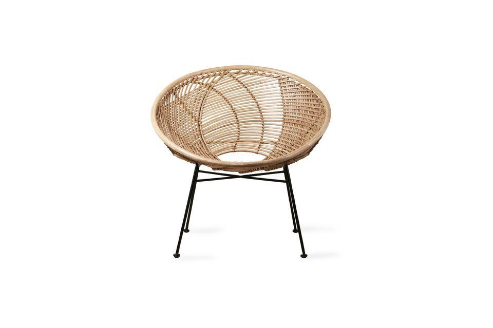 Con su diseño todo en redondo, esta pieza hace que quieras sentarte cómodamente