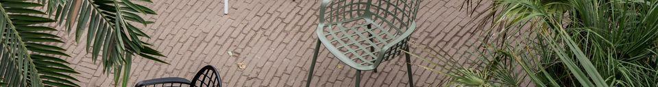 Descriptivo Materiales  Sillón de jardín Albert Kuip verde