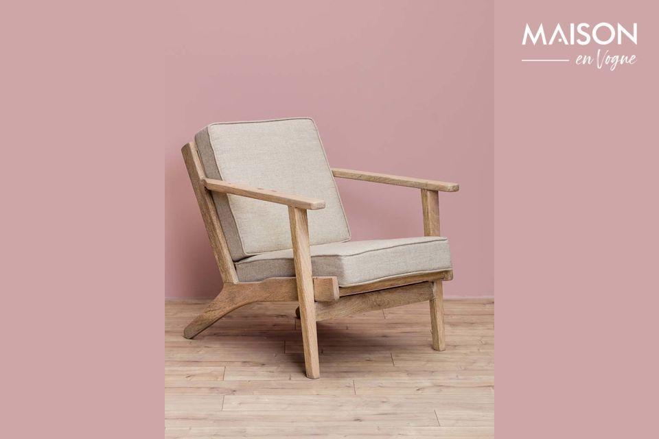 El sillón del Théra de Chehoma le ofrece la oportunidad de optar por el estilo retro con un