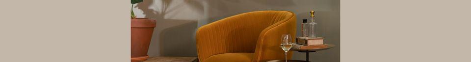 Descriptivo Materiales  Sillón de salón Dolly ocre