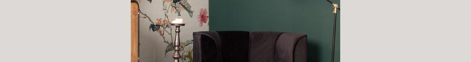 Descriptivo Materiales  Sillón de salón Fleur negro