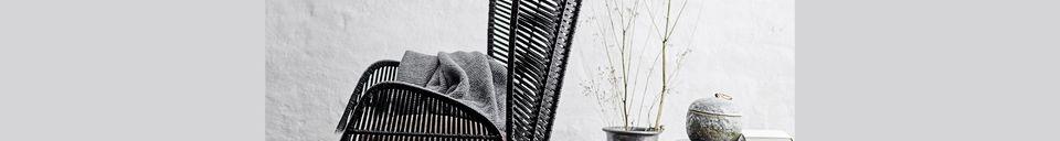 Descriptivo Materiales  Sillón de salón negro Erika en ratán