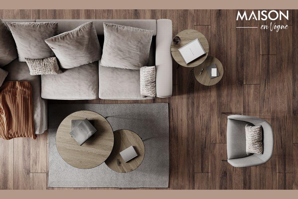 Un sillón con ángulos atractivos