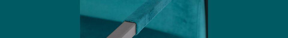 Descriptivo Materiales  Sillón de terciopelo azul Wakasan