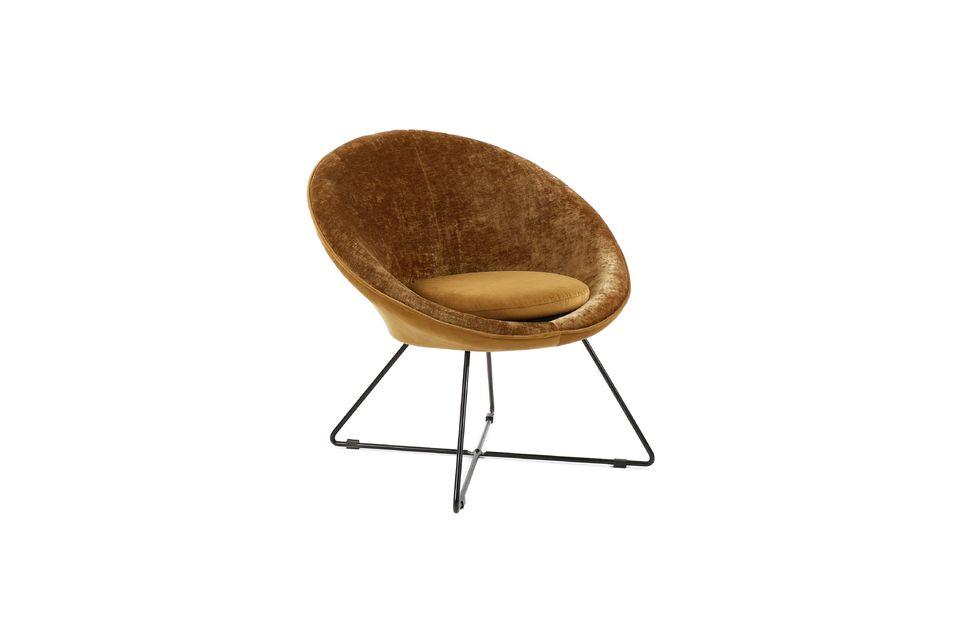 Un sillón redondo de buenas dimensiones