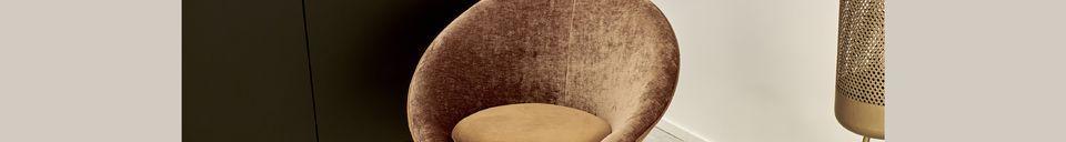Descriptivo Materiales  Sillón de terciopelo Garbo