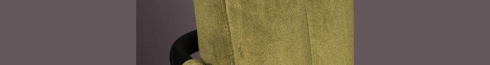 Descriptivo Materiales  Sillón de terciopelo Stitched