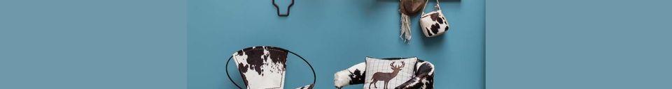 Descriptivo Materiales  Sillón de vaca y roble Les Rocheuses