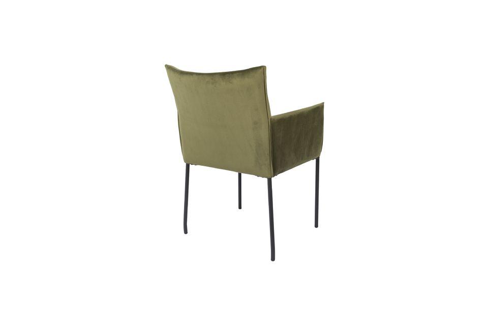 Sillón Dion de terciopelo verde oliva - 7