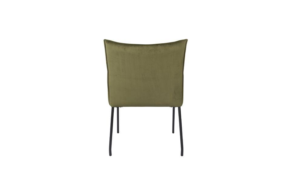 Sillón Dion de terciopelo verde oliva - 8