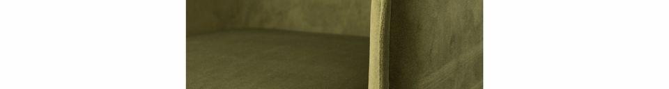 Descriptivo Materiales  Sillón Dion de terciopelo verde oliva
