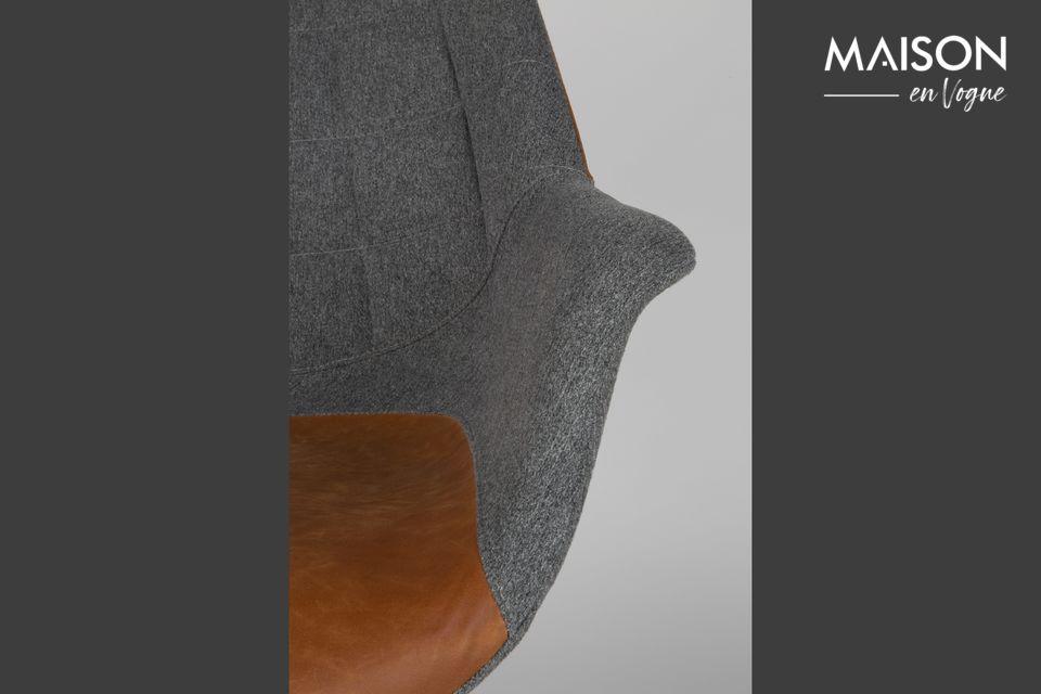Moderno en su diseño, base y tapicería, también es retro en su variación vintage Brown