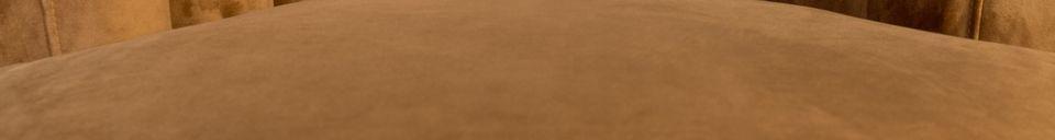 Descriptivo Materiales  Sillón Flair marrón dorado