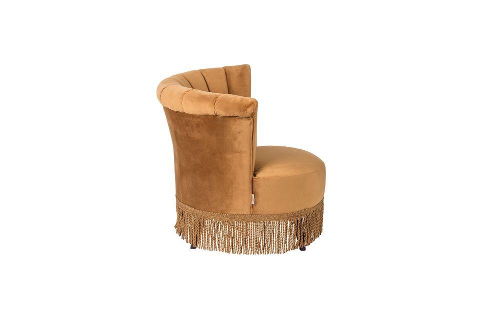 Sillón Flair marrón dorado - 8