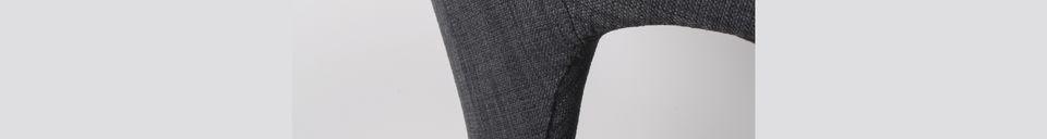 Descriptivo Materiales  Sillón Flexback negro y gris oscuro