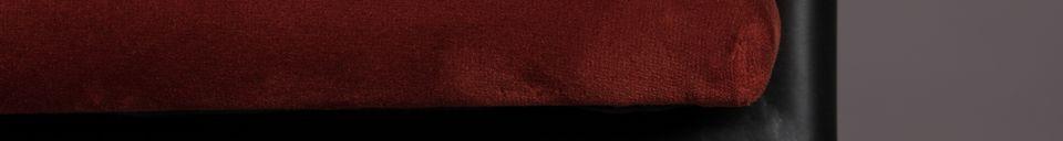 Descriptivo Materiales  Sillón Haily rojo de vino