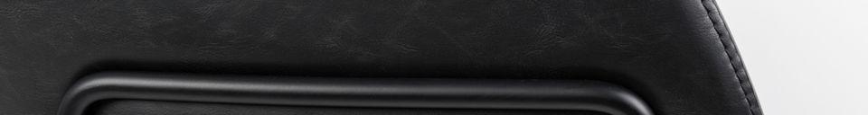 Descriptivo Materiales  Sillón negro Feston