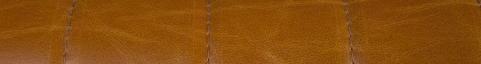 Descriptivo Materiales  Sillón Stitched en coñac