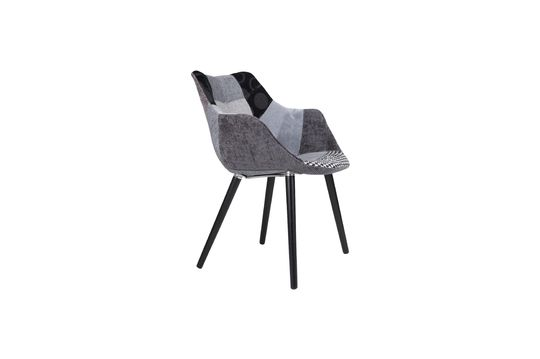 Sillón Twelve Patchwork gris Clipped