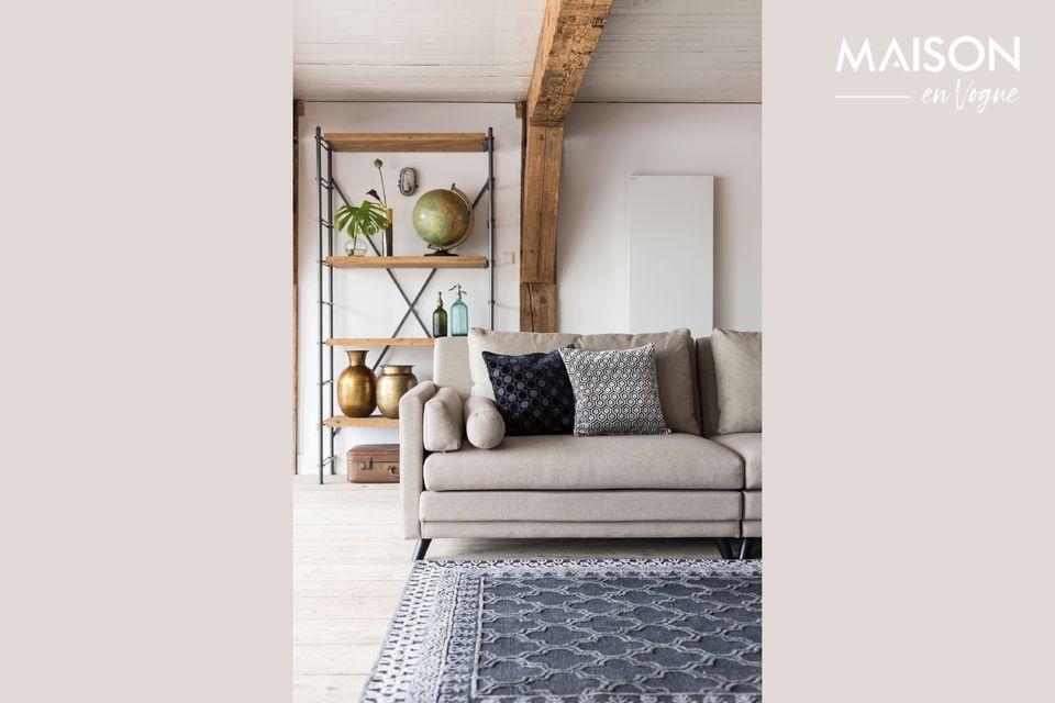 Moderno sofá de 3.5 asientos
