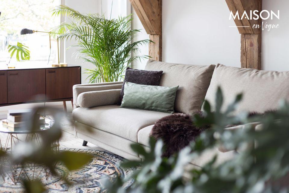 No hay problema con este sofá de color arena