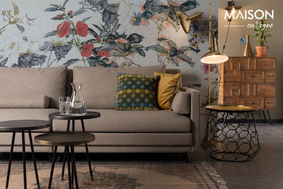 Diseño moderno, líneas limpias, este sofá es de hecho la combinación de dos sofás conectados