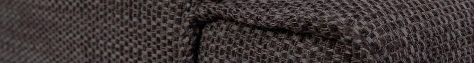 Descriptivo Materiales  Sofá de 1 puesto Bor antracita