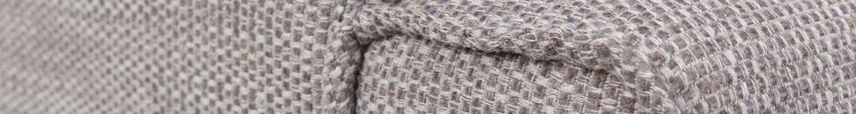 Descriptivo Materiales  Sofá de 1 puesto Bor gris