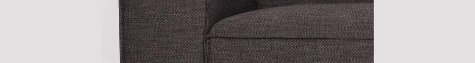 Descriptivo Materiales  Sofá de 2,5 puestos Bor color antracita