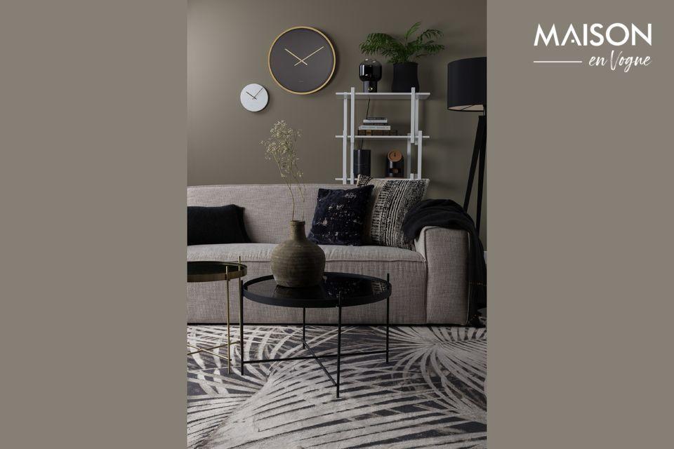 Encanto y comodidad para un sólido sofá
