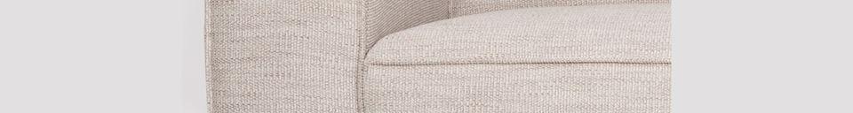 Descriptivo Materiales  Sofá de 2,5 puestos Bor color Latte