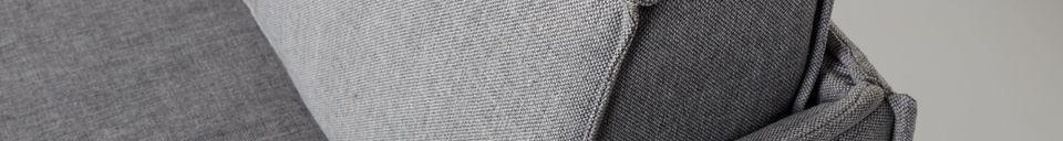 Descriptivo Materiales  Sofá de 2,5 puestos Jaey gris