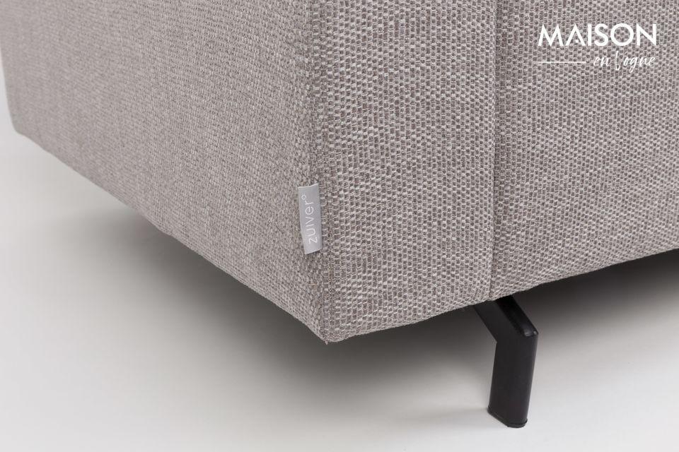 5 Seater Grey de Zuiver combina un diseño minimalista con líneas simples pero contemporáneas que