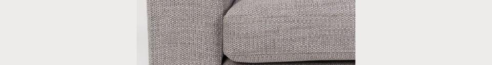 Descriptivo Materiales  Sofá de 2,5 puestos Jean gris