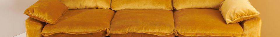 Descriptivo Materiales  Sofá de 3 plazas Vez color ocre