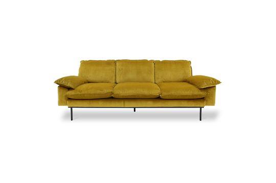 Sofá de 3 plazas Vez color ocre Clipped