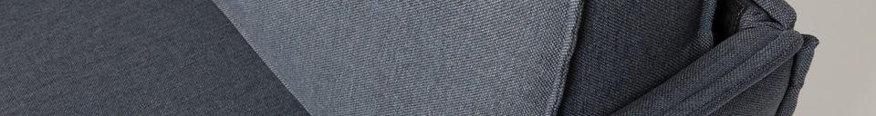 Descriptivo Materiales  Sofá de 3 puestos Jaey gris-azul