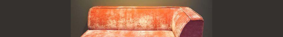 Descriptivo Materiales  Sofá de esquina rosa Floyd
