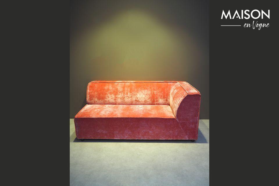 Sofá de esquina rosa Floyd Chehoma