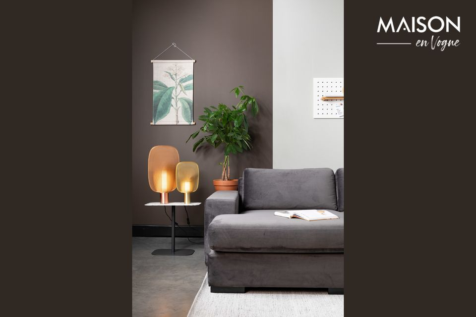 Sofá de izquierda Fiep de terciopelo gris - 3