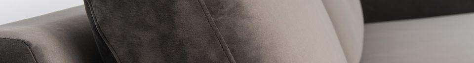 Descriptivo Materiales  Sofá de izquierda Fiep de terciopelo gris