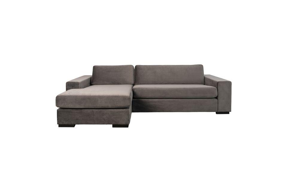 Sofá de izquierda Fiep de terciopelo gris - 4