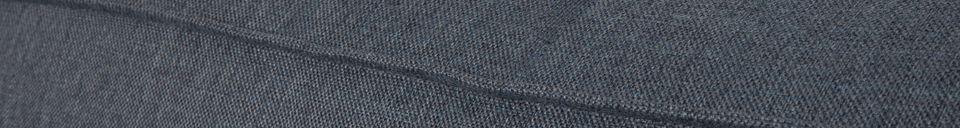 Descriptivo Materiales  Sofá de la esquina izquierda Fat Freddy gris-azul