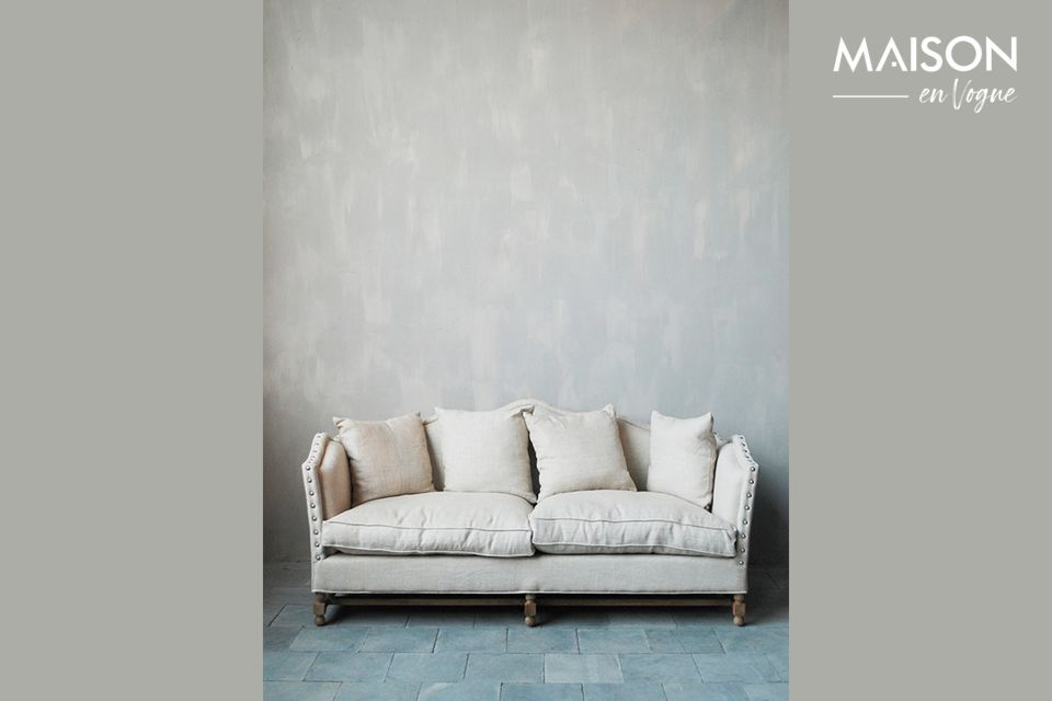 Sofá de lino María Antonieta Chehoma